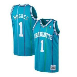 Charlotte Hornets Muggsy Bogues Green Jersey